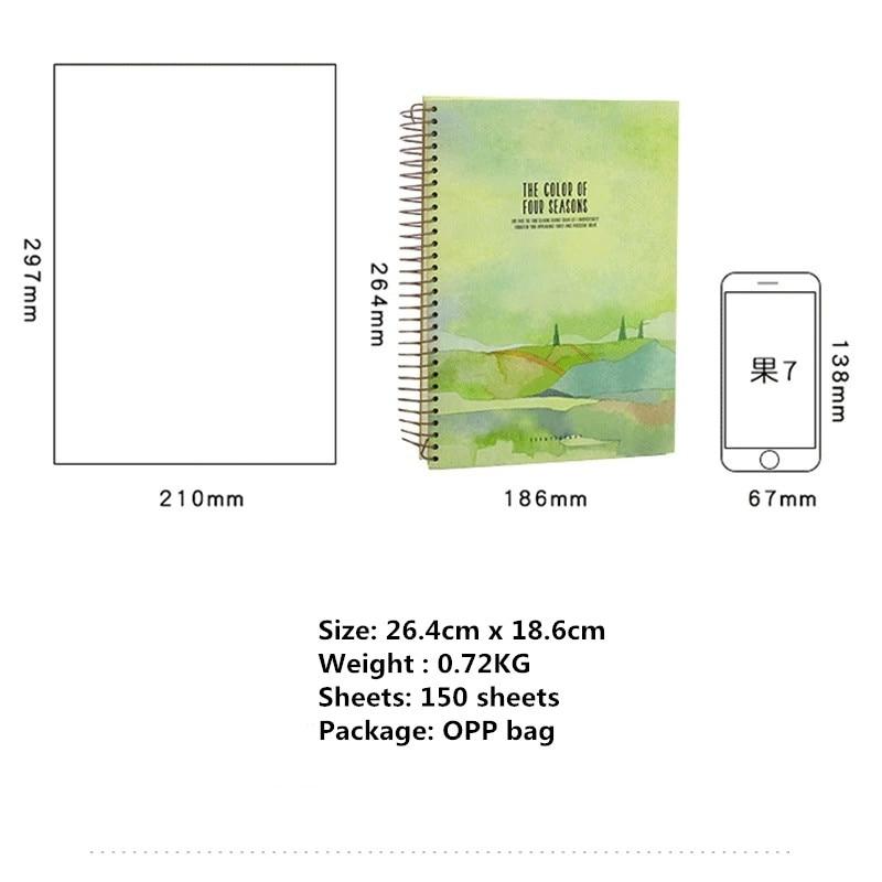 Image 5 - 2020 New 150 Sheets Thickened Vintage Van Gogh Notebook Planner Agenda Daily Monthly Study Work Notepad Agenda School StationeryNotebooks   -