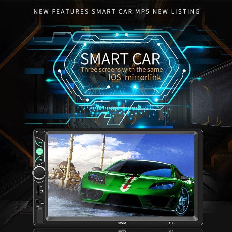 SWM-S7 7 Inch HD Touc-h Big Screen Car BT MP5 Player Car MP3 Card Machine FM With CD Player DVD 50AUG1205