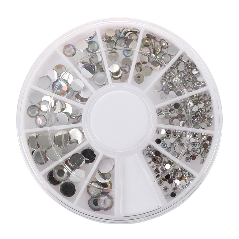 Acrylic Nail Art Decoration Glitter Rhinestones White