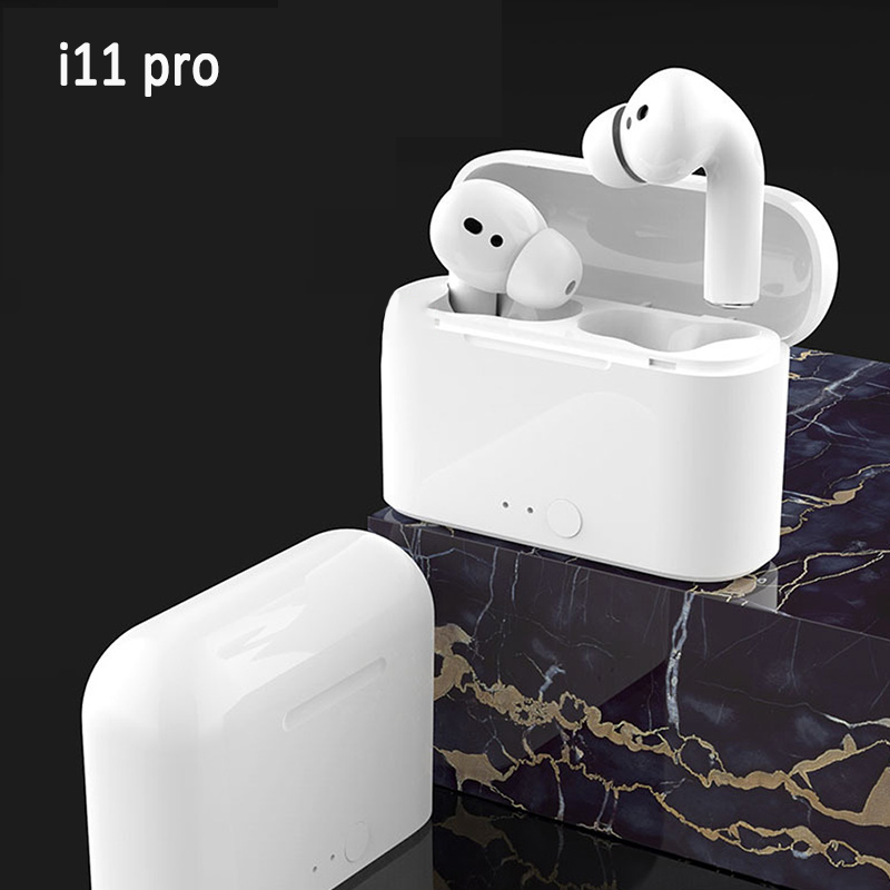 <font><b>i11</b></font> <font><b>Pro</b></font> Wireless Headphones Bluetooth Earphone <font><b>TWS</b></font> Mini Earbuds Sports Headset With Mic Support IOS/Android Phones HD Call image
