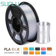 SUNLU Silk Shiny Silver PLA 3D Printer Filament 1.75mm 1KG 2.2LBS Spool Widely Compatible 3D Printing Metal Silver Feeling
