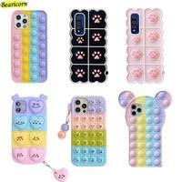 Custodia per giocattoli Pop Bubble Fidget per Huawei Honor 50 30i 30s 20i 20e 10i 9X 8X 20 10 Lite View 30 40 Nova 5T 3i 3 6 7 8 Pro SE Cover