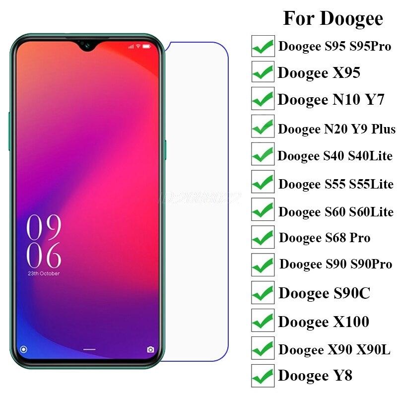 Tempered Glass For Doogee S40 S55 S60Lite S90 S90C S95 S88 Pro Y7 Y9 Plus N10 N20 N100 X90 X90L Screen Protector Doogee X95 Film(China)