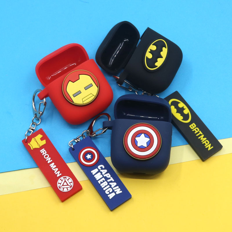 Cartoon Mavel Keyring Protective Cover Anti-Shock Silicone Case For OPPO Enco Free Headset Cover