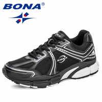 BONA 2020 новые дизайнерские сетчатые кроссовки мужские уличные повседневные туфли мужские дышащие Zapatillas Hombre Patcahwork мужские туфли трендовые
