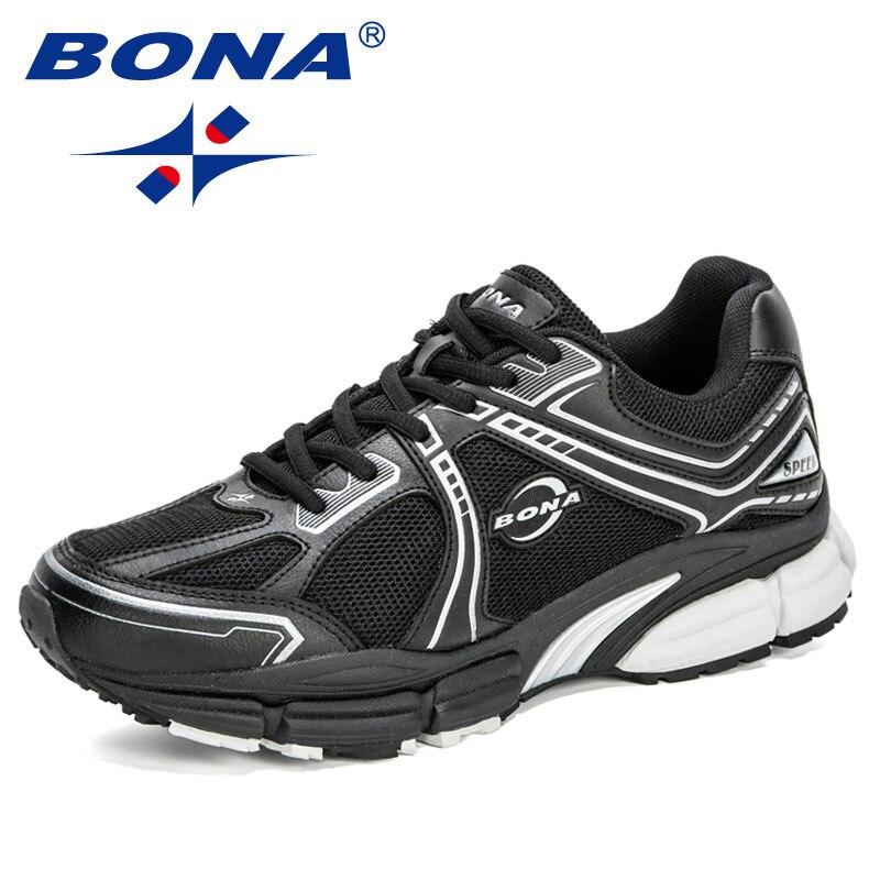 BONA 2020 New Designers Mesh Sneakers Men Outdoor Casual Shoes Man Breathable Zapatillas Hombre Patcahwork Men's Shoes Trendy
