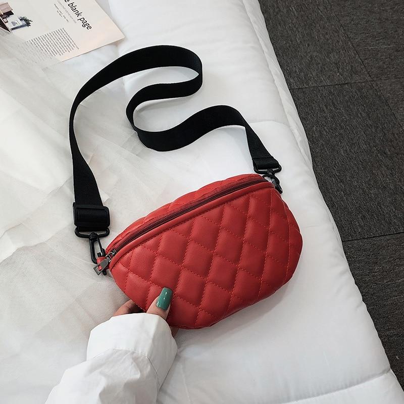 Belt Bag Women Casual Shoulder Bag Chest Pack Travel Zipper Pouch Female Saddle Crossbody  Messenger Bag Bolsas Feminina A392