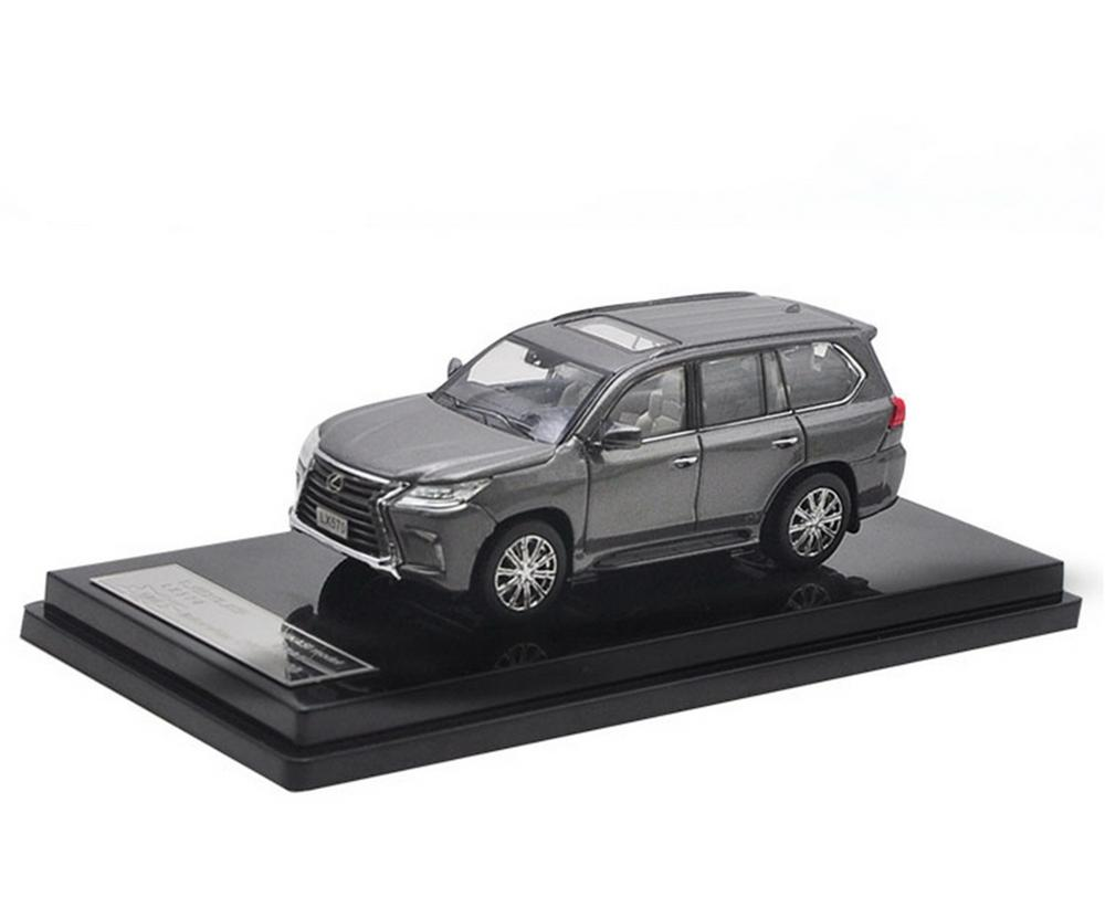 1/64 Scale LEXUS LX570 SUV Gray DieCast Car Model Collection HIKASI