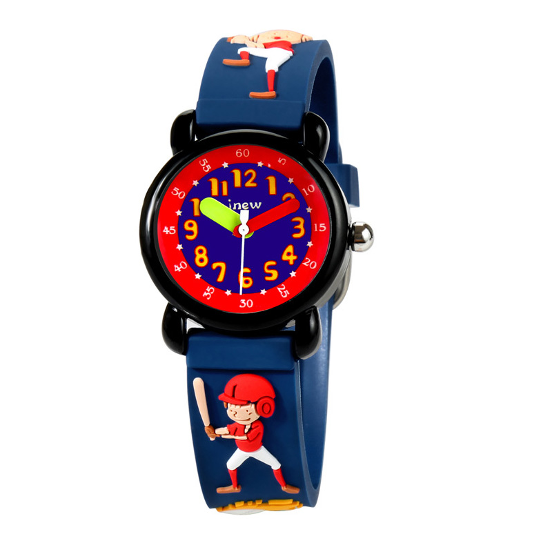 TurnFinger Creative Cute Cartoon Pattern Children% 27s Quartz Watch 3D Silicone Strap For Boys And Girls Luxury Hot Sale Gift 2020 год