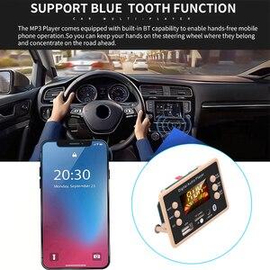 Image 4 - جديد MP3 فك فك لوحة تركيبية 12 فولت بلوتوث 5.0 سيارة USB مشغل MP3 WMA WAV دعم TF بطاقة USB FM لوحة تركيبية عن بعد