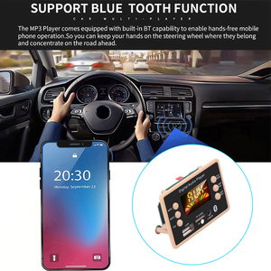 Image 4 - Nowa płyta modułu dekodującego dekodera MP3 12V Bluetooth 5.0 samochodowy odtwarzacz MP3 USB WMA WAV obsługa karty TF moduł zdalnego sterowania USB FM