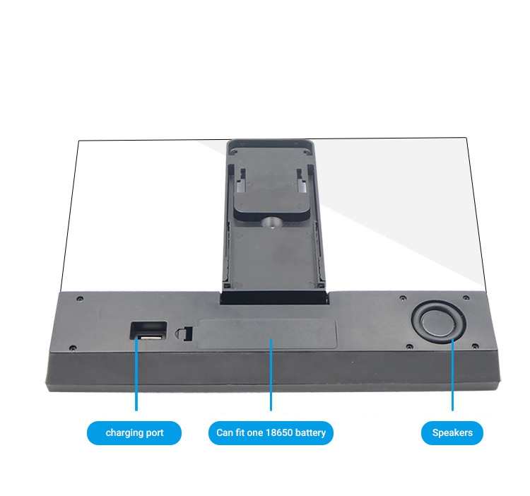 Movie Video Screen Amplifier With Bluetooth Speaker