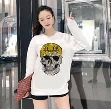 Novo plus size hoodies para mulheres broca quente moda topos feminino moletom casual mulher roupas