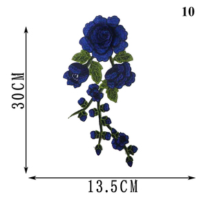 1pc Stripes For Clothes Flowers Iron On Transfer Patche Fleur De Lis Applique Clothes Washable Application Thermo Stickers