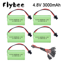 4.8v 3000mAh Battery and 5in1 Charger cable For Rc toys Cars Tanks Robots Boats Guns AA 4.8 v 3000 mah Rechargeable Battery Pack