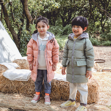 Snow Winter Long Down Jacket for Teenagers 2-10 Years Girls 90% White Duck Coat Baby Boys Christmas Children Clothes