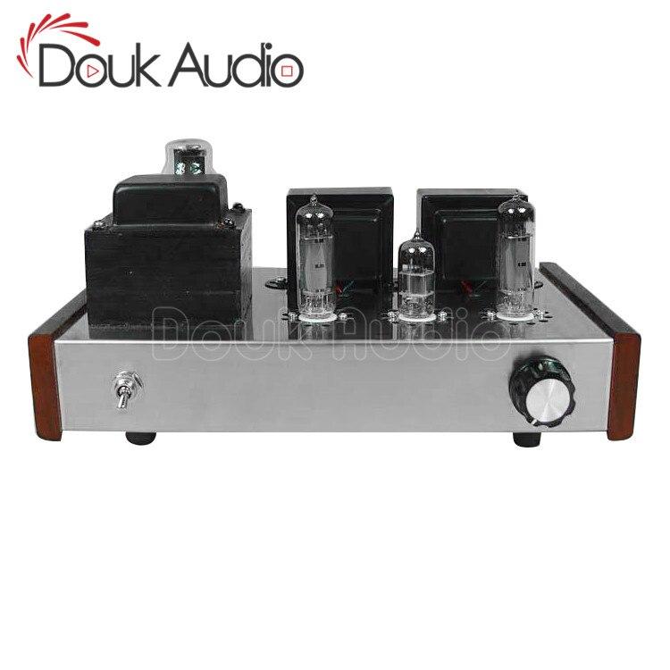 Douk Audio HIFI 6P14 amplificateur de Tube de Valve stéréo à extrémité unique classe A amplificateur de puissance pur fait à la main
