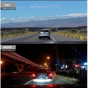 Image 5 - HGDO 10 אינץ רכב DVR Rearview מראה דאש מצלמת מלא HD מגע מסך רכב מצלמה 1080P dvrs עדשה כפולה וידאו מקליט autoregister