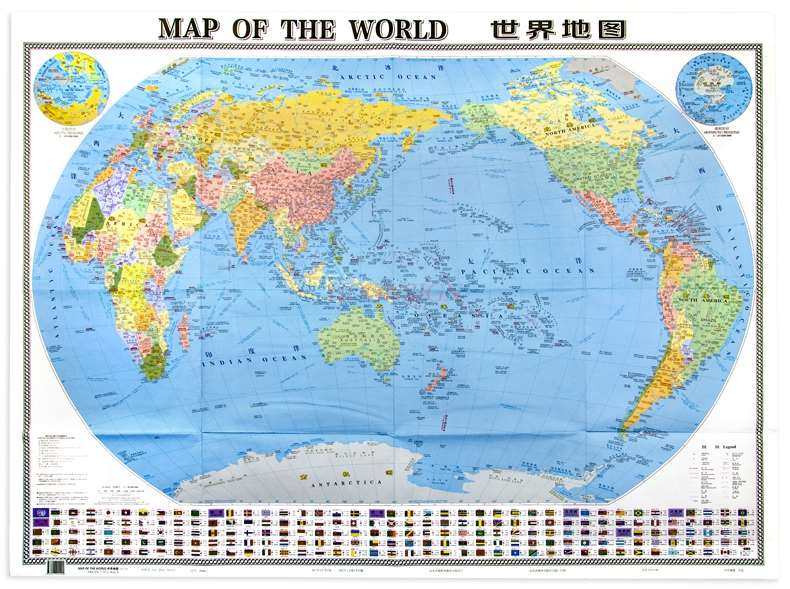 World Map Chinese And English Large Scale Clear And Easy To Read Large Size Folding Map Home Office Travel Map