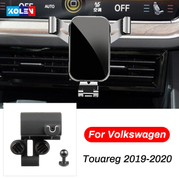 For Volkswagen Touareg 2019 2020 Car Mobile Phone Holder Car Smart Phone GPS Air Vent Outlet Bracket Snap-type Navigation Stand image