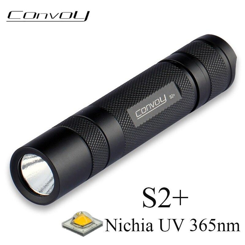 Конвой S2 + с Nichia UV 365nm UV фонарь вспышка светильник флуоресцентных агентов обнаружения Ультрафиолетовый ультрафиолетовый УФ-Martin светильник
