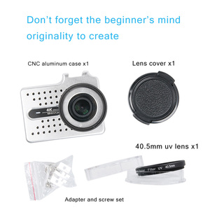 Image 5 - Dla xiaomi yi 4K akcesoria do aparatu aluminiowa obudowa metalowa obudowa ochronna + filtr UV do xiaomi yi II 4k 4K + kamera