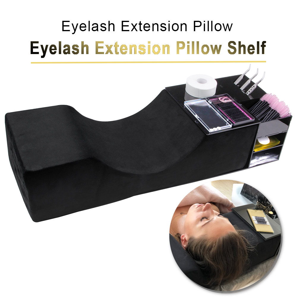 Professional Eyelash Extension Pillow With Acrylic Lash Pillow Shelf Grafting Eyelashes Makeup Organizer Headrest Neck Support