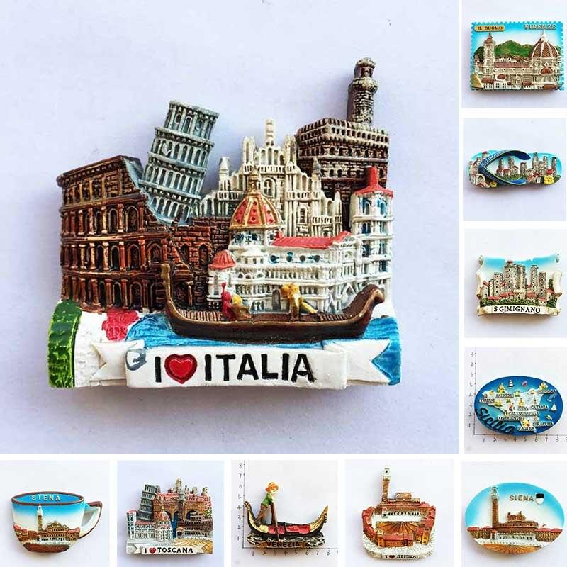 Магниты на холодильник из итальянской смолы, туристический сувенир, наклейки на холодильник, домашний декор, подарки