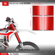 HUMAART ส้อม Suspension สติกเกอร์ Motocross Enduro กราฟิกรูปลอก Off Road ไวนิลสำหรับ MX Dirt Bike Off Road,สีแดง