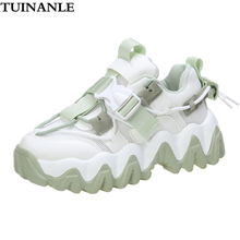 Chunky Sneakers Platform-Shoes Female Trainers Women's Breathable Fashion Lace-Up TUINANLE