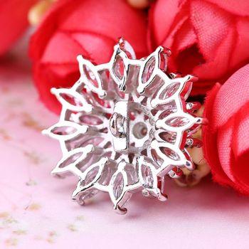 1Pc 1Pc 24mm Glitter Zirkon 3 Schicht Blume Form Dekorative Tasten Mit Metall Schleife Schaft Loch Nähen clip Schnalle DIY Handwerk