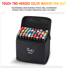 Touch two-headed color marker pen suit, 60-color 80-color student design hand-painted pen, animation sketch watercolor