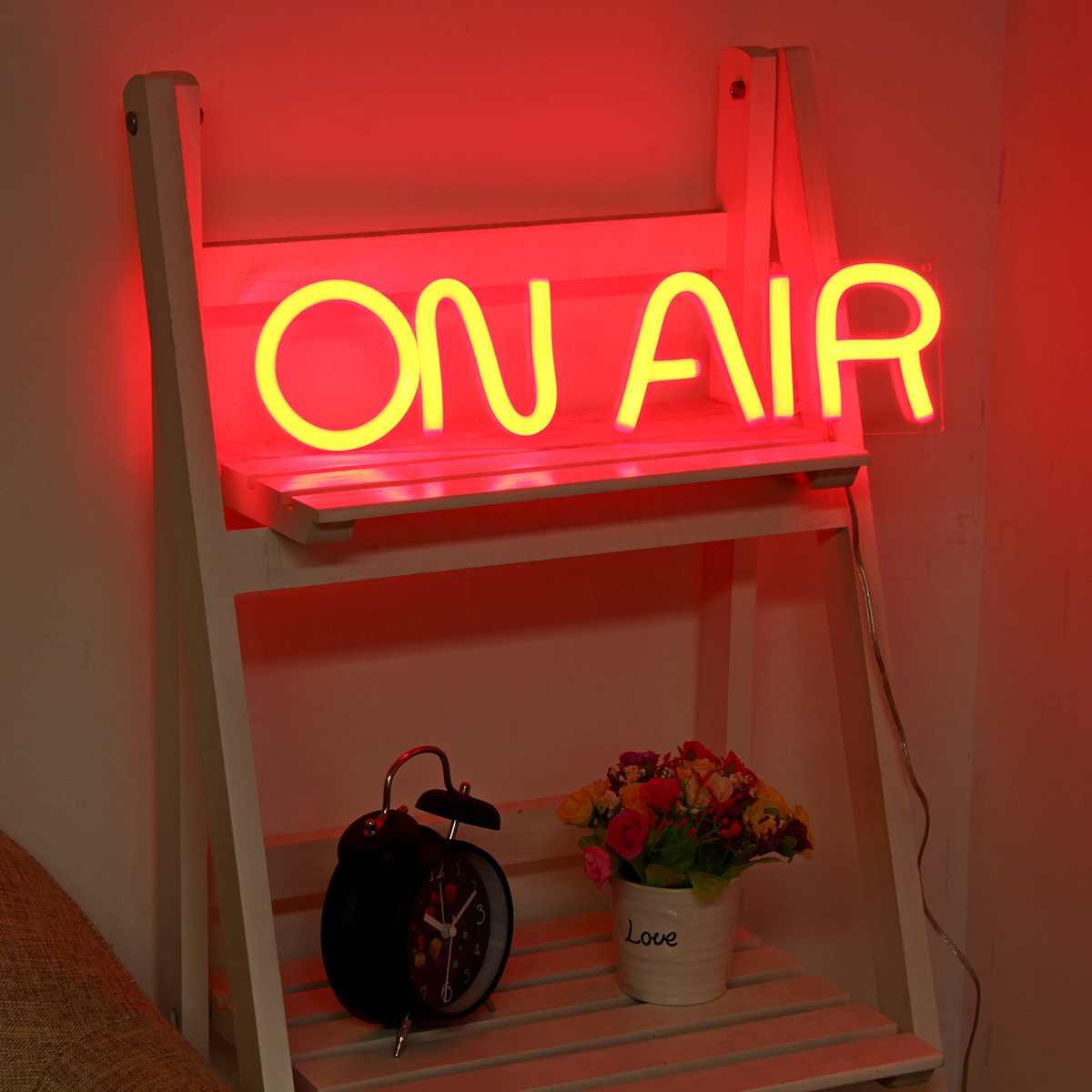 على الهواء LED النيون تسجيل ضوء بار حانة نادي جدار ديكور أنبوبة ليد الفني البصري ديكور الحفلات النيون مصباح ديكور المنزل ليلة الخفيفة
