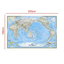 Non-woven Waterproof World Map 150x225cm Mercator Projection Without Flag For Trip And Travel
