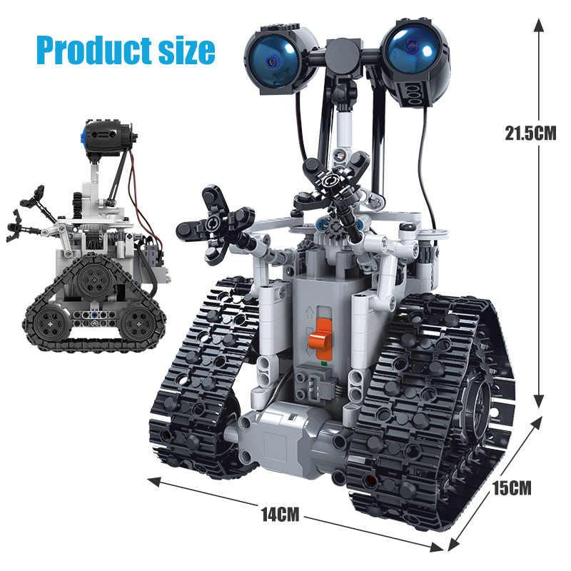 Hipac 408PCS Città Creativo RC Robot Blocchi di Costruzione Elettrica Technic A Distanza di Telecomando Robot Intelligente Giocattoli Dei Mattoni Per I Bambini