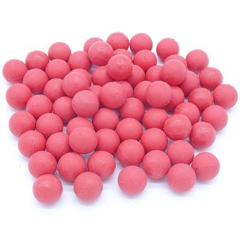 200PCS Reusable 0.68 Caliber Paintball for Outdoor Shooting Training Elastic Re-Usable Rubber Paint Ball