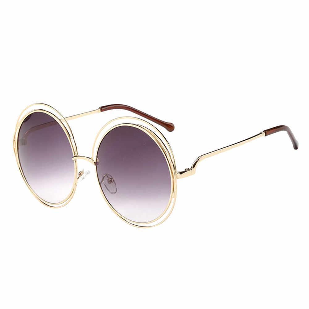 VINTAGE สำหรับผู้หญิง 2019 แว่นตากันแดดผู้ชาย Designer Designer 90 S ขนาดใหญ่ Punk วงกลมสีชมพูแว่นตากันแดด Streetwear