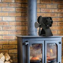 Fireplace Fan Log Burner Thermal Power Four-Page Wood Stove Burning