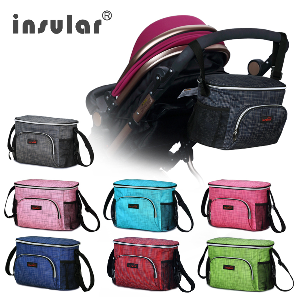 Insular Waterproof Thermal Insulation Mommy Bags Cool Multifunctional Baby Stroller Organizer Diaper 45