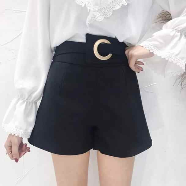 2020 Summer Wide Leg Shorts Women Short Pants Women Sexy High Waist Shorts Solid Elegant Ladies Short Feminino DC45