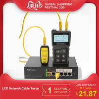NF 488 Network Cable Tester Lan tester LCD PoE Checker Inline PoE Voltage and Current Tester with Cable Tester checker Over