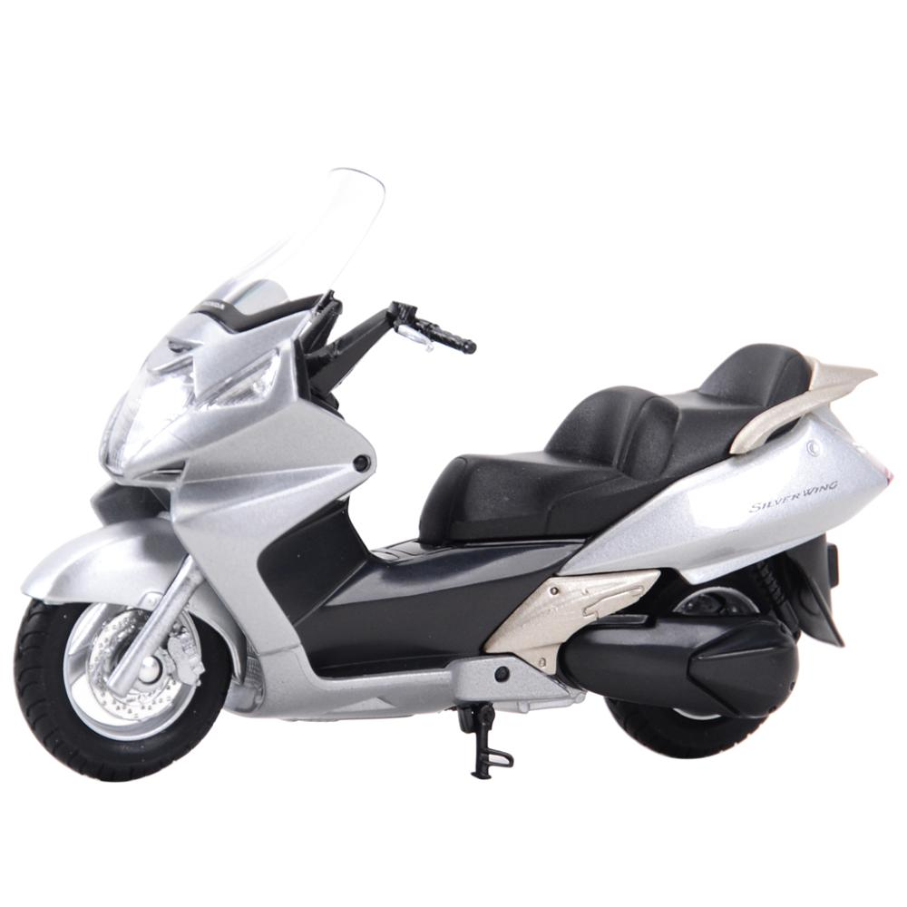 Welly 1:18 Honda Silver Wing Diecast Alloy Motorcycle Model Toy
