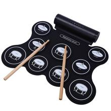 portable electronic drum speaker built-in, rechargeable & five types of drum tones color metronome function,external sound sourc(China)