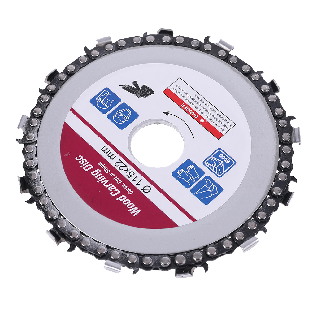 4.5 Inch Grinder Chain Disc Wood Carving Disc Circular Saw Blade And Chain 22 Tooth Fine Shaping Disc For 4-1/2 Inch Angle Grind