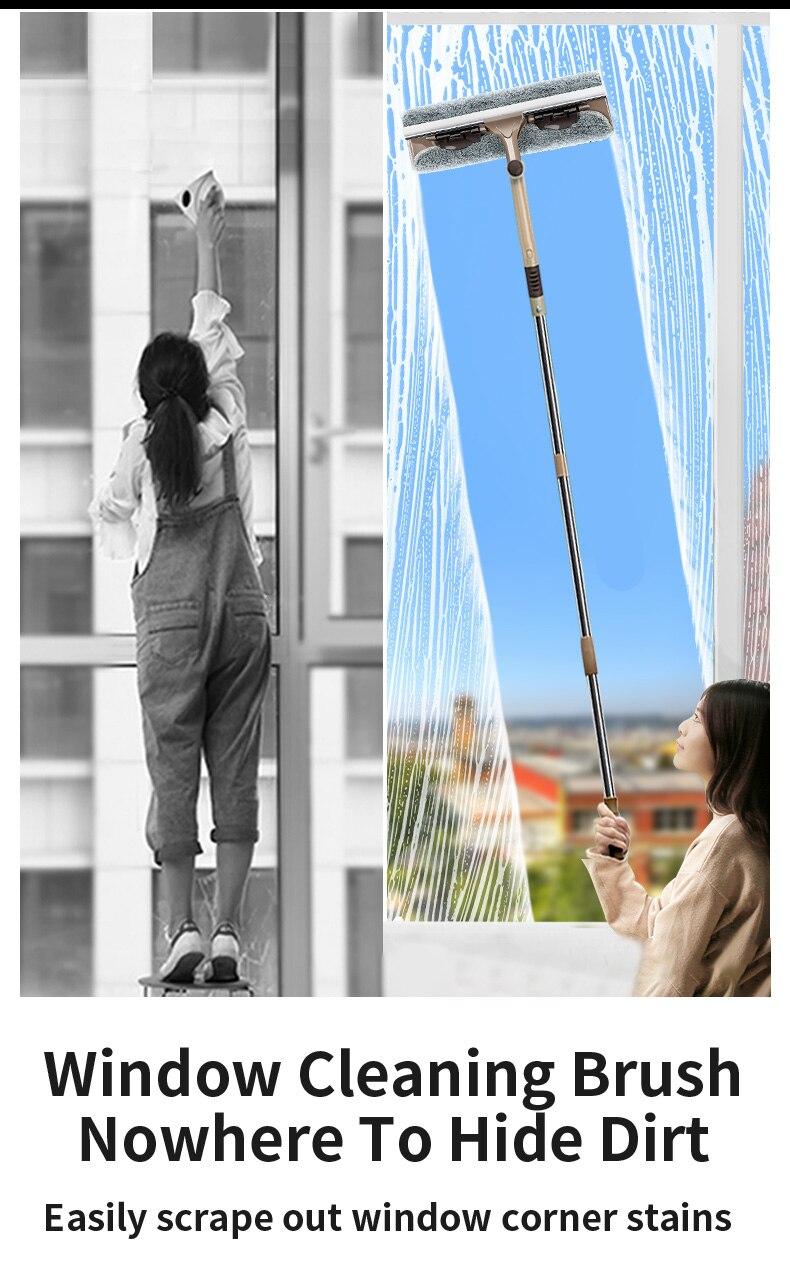 telescópica doméstico duplo-face janela limpador de alta-rise