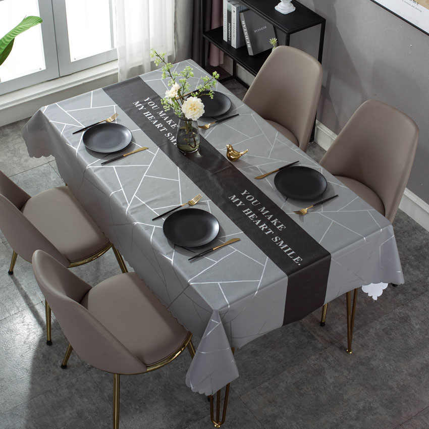 Banquet Tablecloth For Wedding Party Desk Cloth Solid Waterproof Table Cover SM