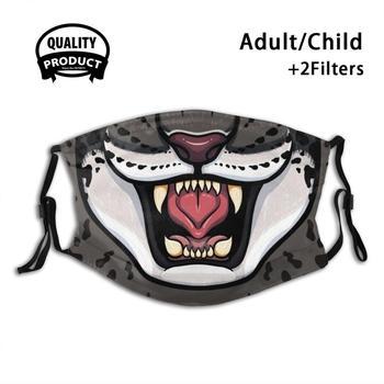 Opancerzonych Jaguar król moda Trendy maski król Fuzzy kot miau Fgc gry walki Tekken król Iron Fist zęby lew Cheetah tanie i dobre opinie POLIESTER NONE Z Chin Kontynentalnych Maska Drukuj Support (Need pictures or text to store)