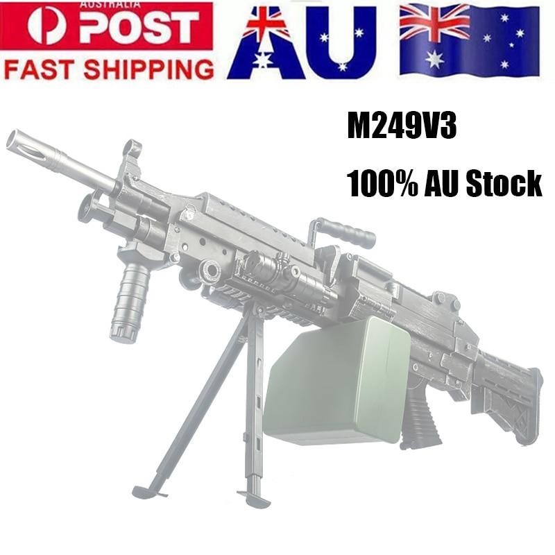 ZhenDuo Toys Mag-Fed Toy Gun M249v3 Gel Ball Blaster Toy Gun For Outdoor Children Child Gifts