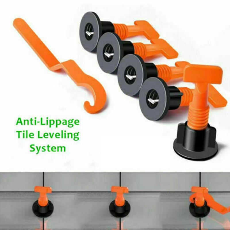 75 Pcs Tile Positioning Auxiliary Leveler Positioner Tile Leveling Kit  Anti-Lipge Tile Ceramic Floor Wall Construction Tools