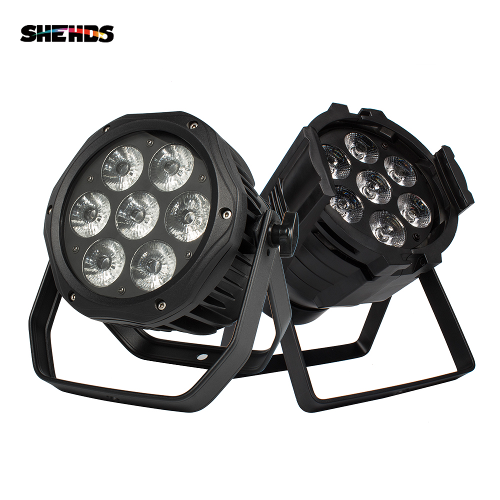 2PCS Waterproof Led Par Light IP65 7x18W RGBWA UV 6in1 7x12W DMX Music DJ Equipment Disco Outdoor Stage Wall Washer
